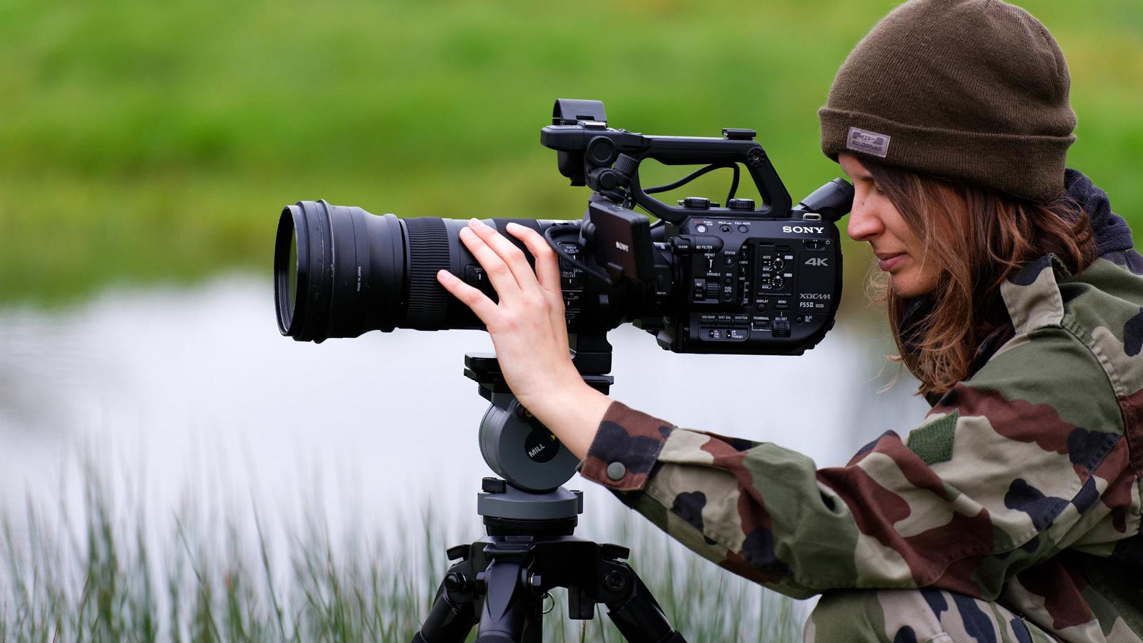 photo d'une étudiante avec un objectif 4k - Iffcam